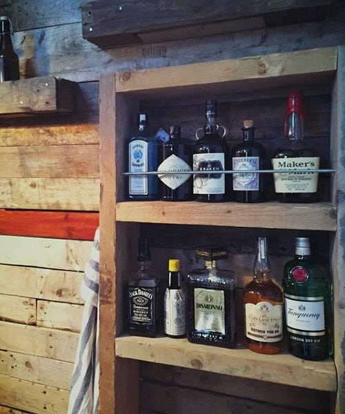 Man Cave Bar Shed Ideas Drink Storage