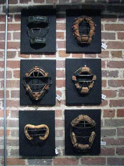 Man Cave Decor Baseball Catcher Masks Wall Art