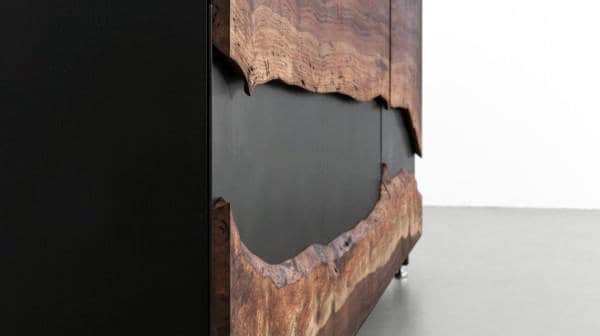 Man Cave Decor Wood Covered Storage Cabinet