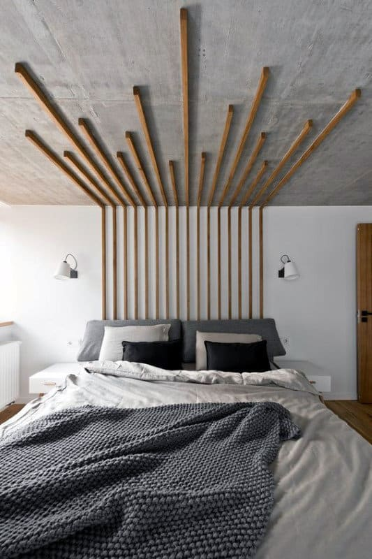Man Cave Decorating Ideas Cool Wooden Stips Wall Art