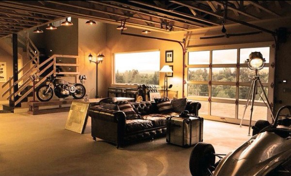 Man Cave Dream Garage Lounge With Couch