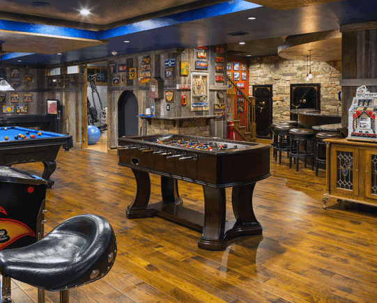 Man Cave Entertainment Basement Design