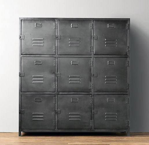 Man Cave Furniture Steel Lockers With Industrial Design