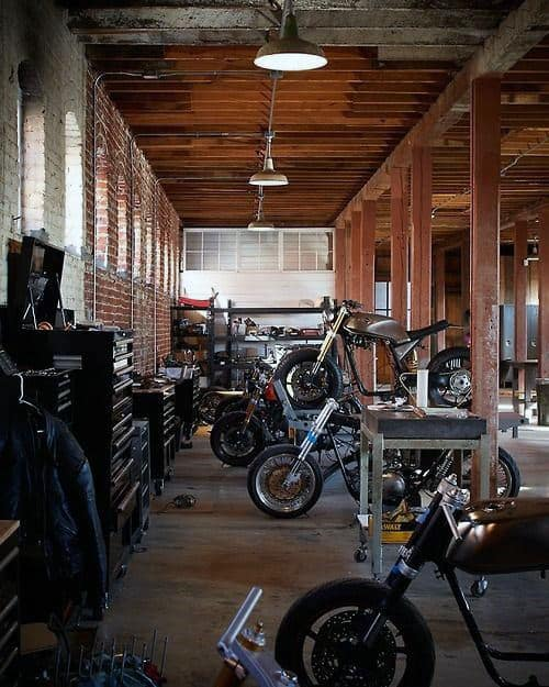 50 man cave garage ideas modern to industrial designs. Black Bedroom Furniture Sets. Home Design Ideas
