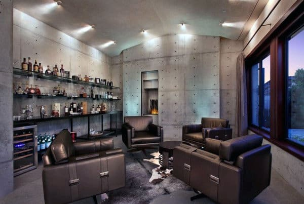 Man Cave Home Basement Bar Inspiriation