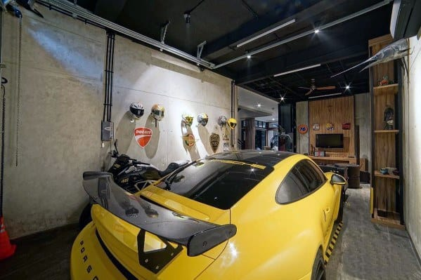 Man Cave Ideas For Garage Walls