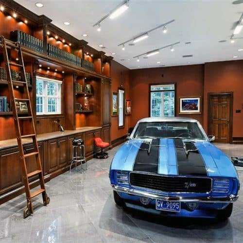 50 man cave garage ideas modern to industrial designs for Luxury garage designs