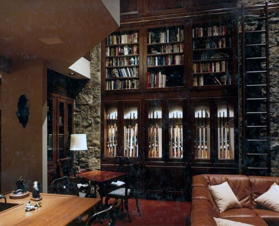 Man Cave Library Gun Room