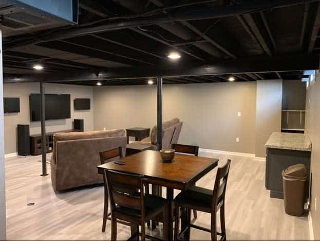 Man Cave Unfinished Basement Ideas
