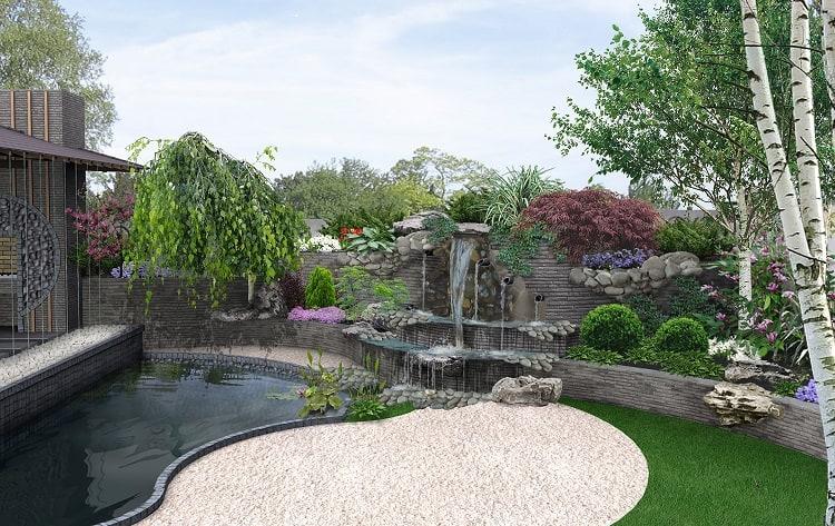 Man Made Nature Scene Of Secret Corner In The Garden, 3D Illustration