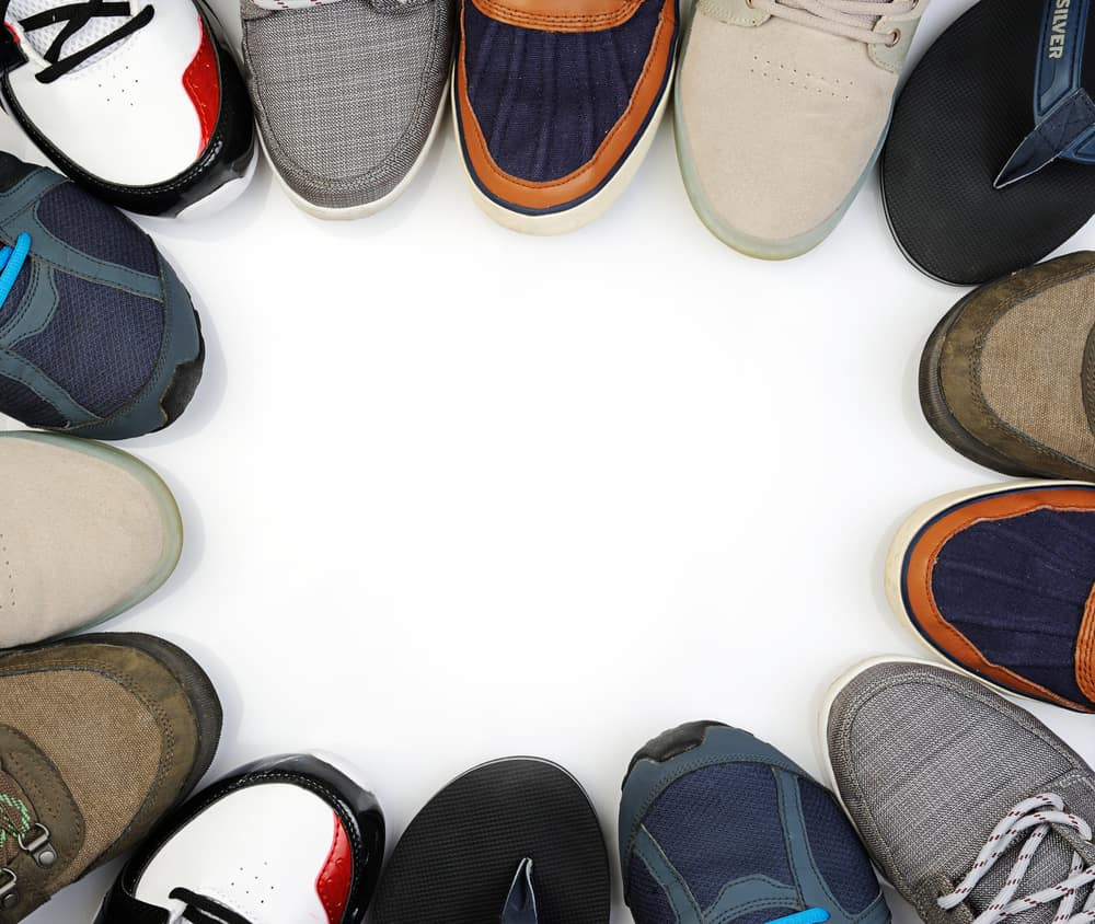 different types of man summer shoes