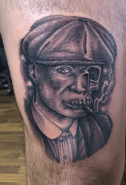 man skull tattoo