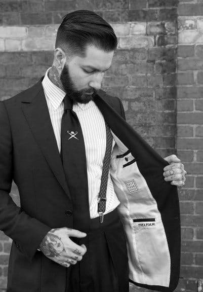 Man Wearing Suit With Sohpisticated Classy Hairstyle