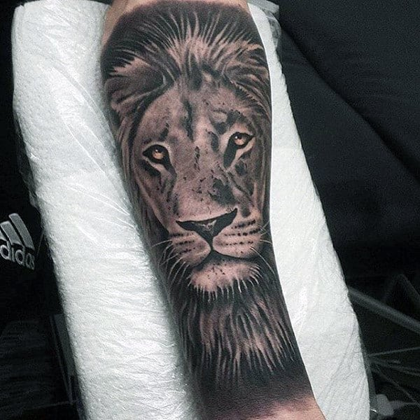 5f872a531 60 Lion Sleeve Tattoo Designs For Men - Masculine Ideas