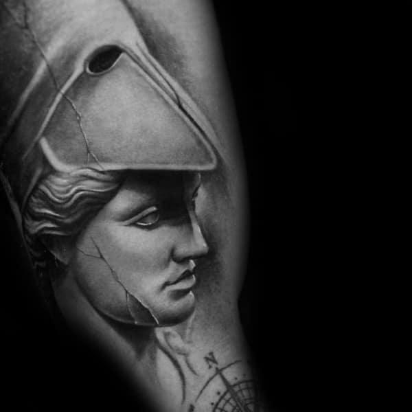 Man With Athena Tattoo Design