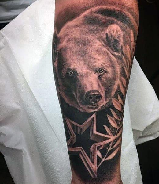 Man With Bear Cub Tattoo