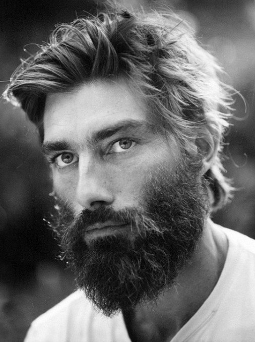 Man With Beard And Haircut