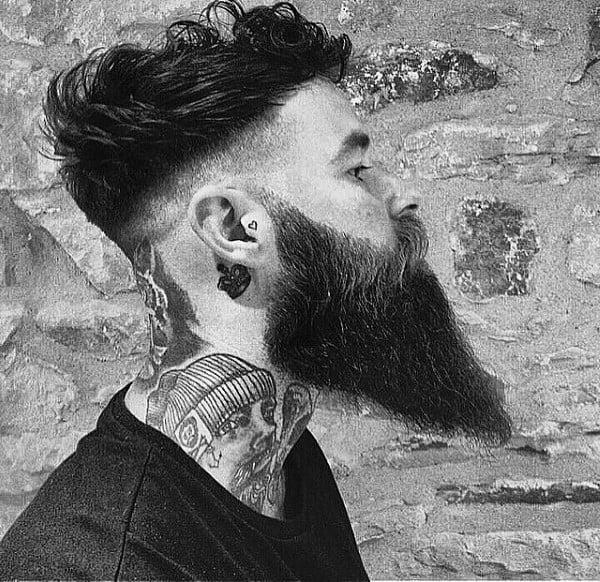 Man With Beard And Undercut Haircut