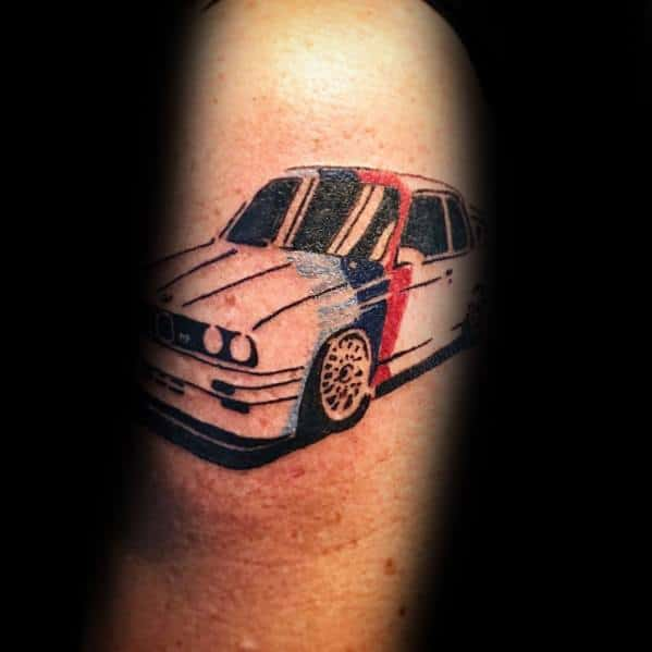 Man With Bmw Tattoo Design