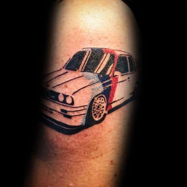 Man With Bmw Tattoo Design
