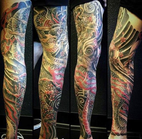 Man With Calf Tattoo