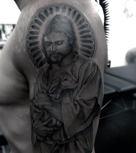 Man With Christian Arm Tattoos