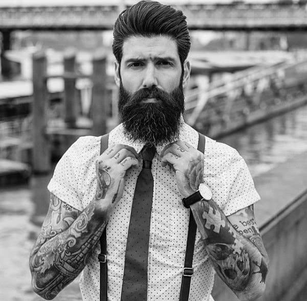 Man With Classic Pompadour Hairstyle