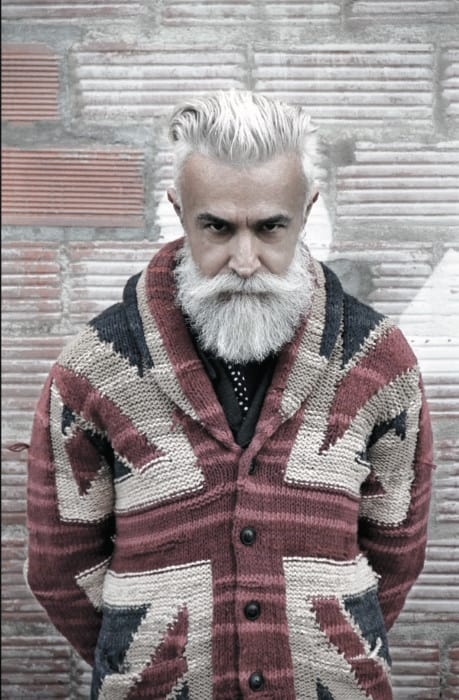 Man With Cool Grey Beard