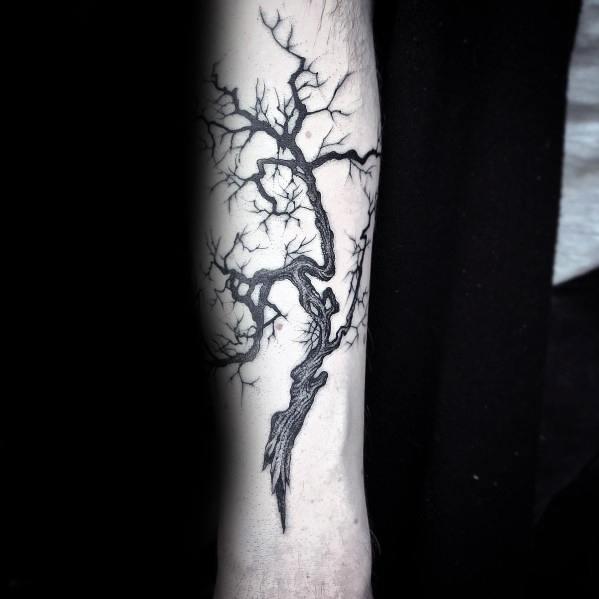 Man With Cool Tree Tattoo Design