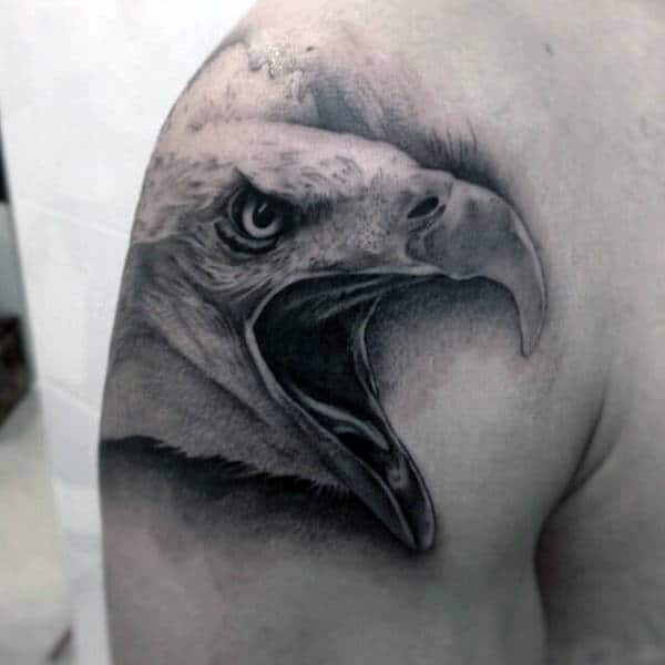 Man With Eagle Shoulder Animal Tattoo