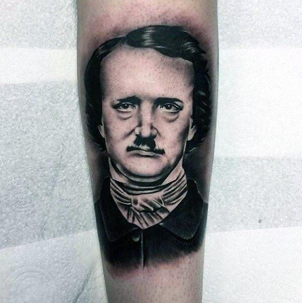 Man With Edgar Allan Poe Tattoo Design