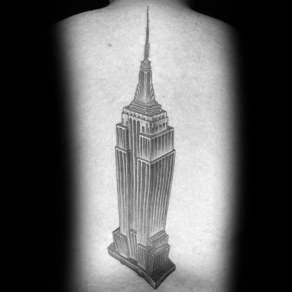 Man With Empire State Building Tattoo Design