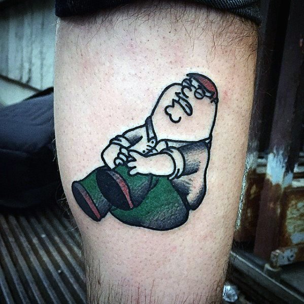 Man With Family Guy Tattoo Design