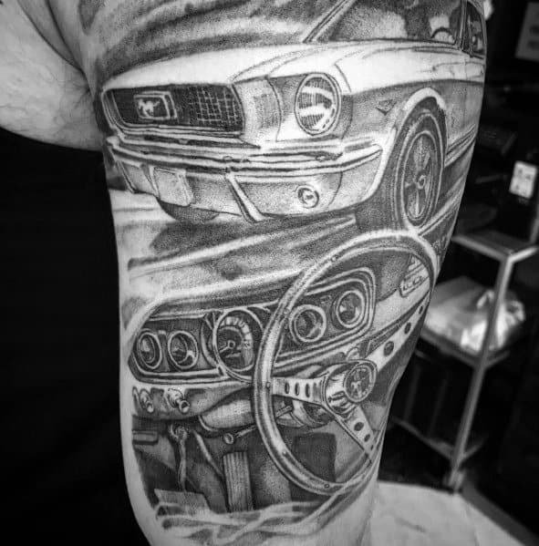 Man With Ford Tattoo Design