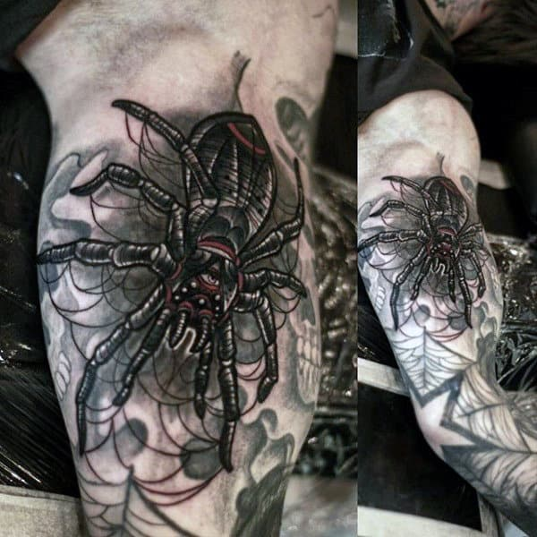 Man With Frightening Spider Tattoo On Arms