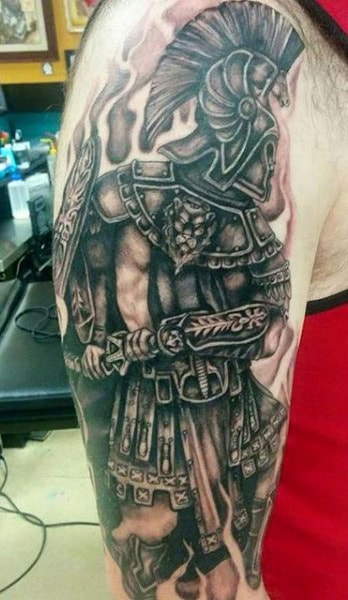 Man With Gladiator Amphitheatre Tattoo