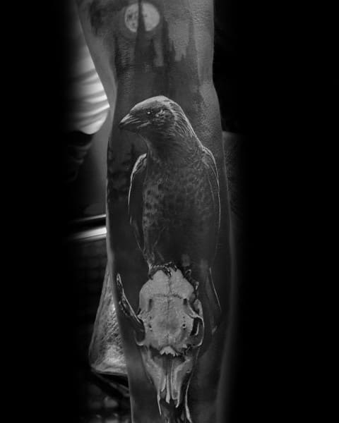 50 Gothic Tattoos For Men Dark Body Art Design Ideas