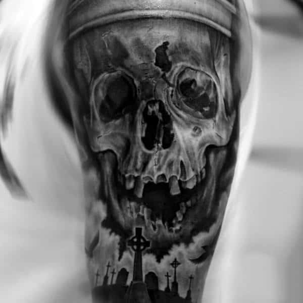 Man With Grave Tattoo
