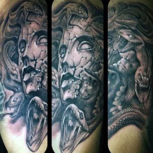Man With Greek Art Tattoo