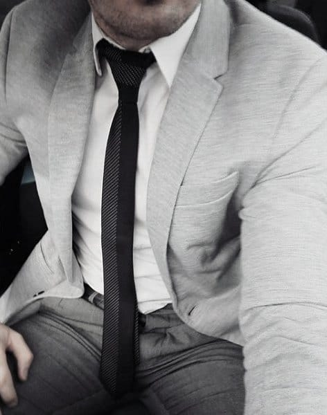 Man With Grey Suit Fashionable Style Look