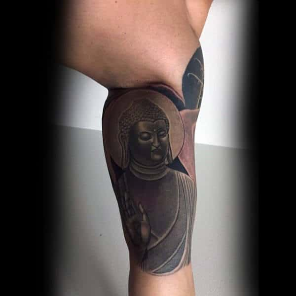Man With Inner Arm Religious Tattoos