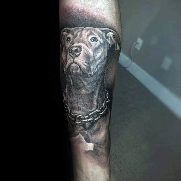 100 memorial tattoos for men timeless tribute design ideas for Tattoos in remembrance of dog
