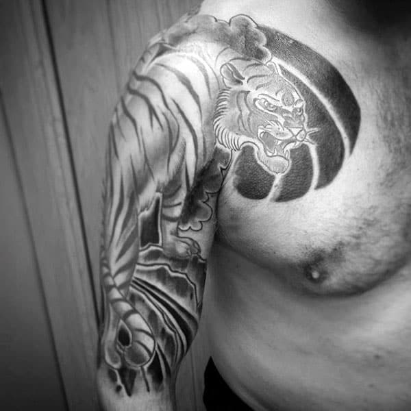 70 Japanese Tiger Tattoo Designs For Men Masculine Ideas
