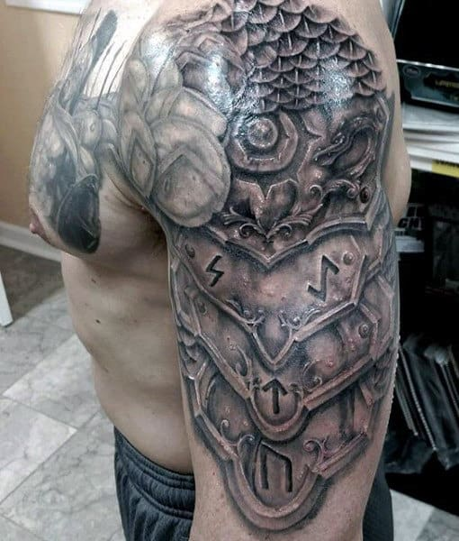 top 90 best armor tattoo designs for men walking fortress. Black Bedroom Furniture Sets. Home Design Ideas
