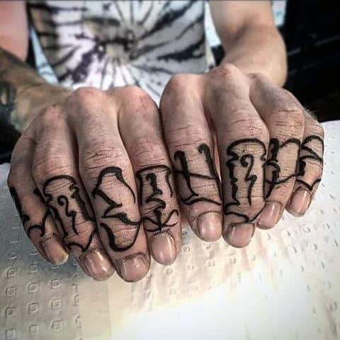 Top 100 Best Knuckle Tattoos For Men A Fist Full Ideas