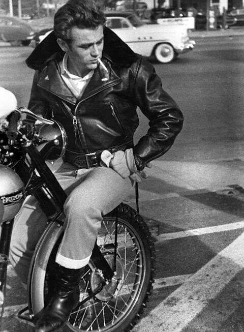 Man With Leather Jacket And Greaser Hairstyle
