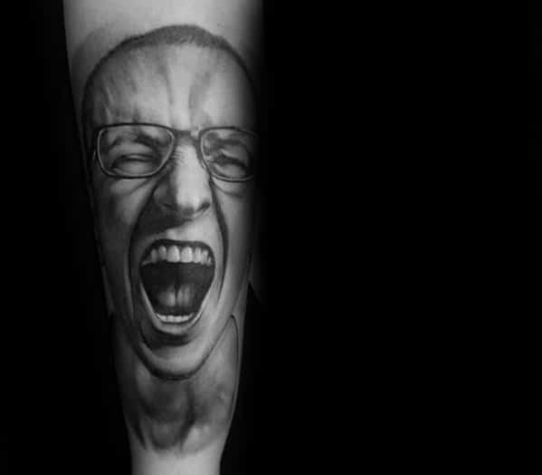 Man With Linkin Park Tattoo Design
