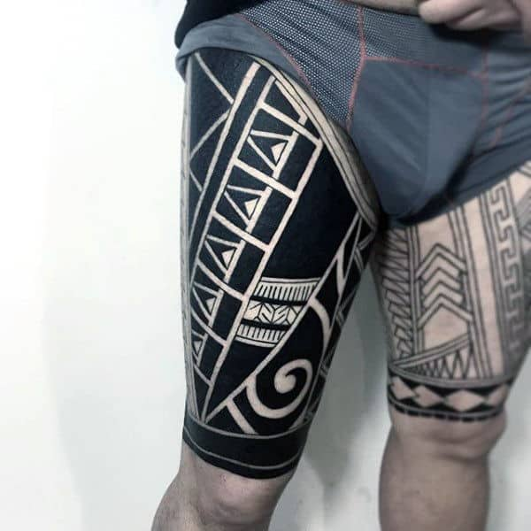 Upper Thigh Tattoo Templates: 100 Maori Tattoo Designs For Men -New Zealand Tribal Ink Ideas