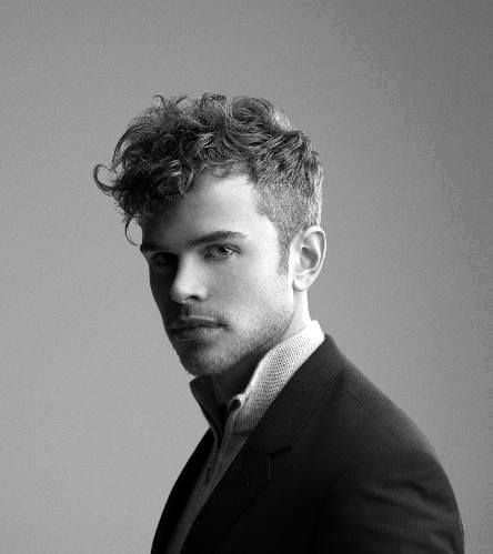 Man With Medium Short Curly Fade Haircut Modern