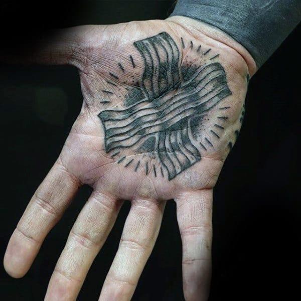 Man With Nice Tattoo On Palm